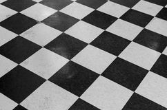 Checker Patterned Tile Floor Royalty Free Stock Photography