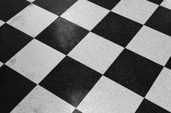 Checker Patterned Tile Floor Stock Photography