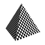 Checker piramid Royalty Free Stock Image