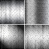 Checker plate background collection Royalty Free Stock Images