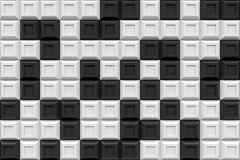 Checker square box  modern technology black abstract 3d  backgro. Und Royalty Free Stock Photo