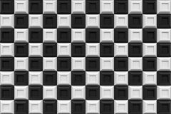 Checker square box  modern technology black abstract 3d  backgro. Und Royalty Free Stock Photography