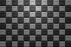 Checker square box  modern technology black abstract 3d  backgro. Und Stock Photos