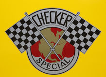 Checker Taxi Cab produced by the Checker Motors Corporation in Brooklyn Royalty Free Stock Images