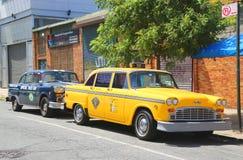 Checker taxi Maratońscy samochody produkujący Checker Jadący Korporacja Obrazy Stock