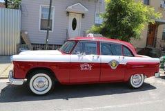 Checker taxi Maratoński samochód produkujący Checker Jadący Korporacja Obraz Stock