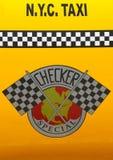 Checker taxi taksówka produkująca Checker Jadący Korporacja fotografia stock