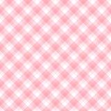 Checker wzór w odcieniach na menchiach i bielu Zdjęcia Royalty Free