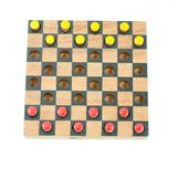 Checker yellow and red Stock Images
