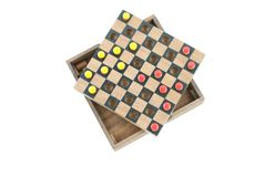 Checker yellow and red top view Royalty Free Stock Image