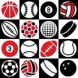 Checkerboard αθλητικών σφαιρών Στοκ φωτογραφίες με δικαίωμα ελεύθερης χρήσης