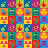 Checkerboard εικονιδίων προειδοποίησης κινδύνου κινδύνου Στοκ Φωτογραφίες