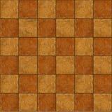 Checkerboard η κεραμική καφετιά πέτρα κεραμώνει χωρίς ραφή tileabl Στοκ φωτογραφία με δικαίωμα ελεύθερης χρήσης