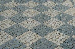 Checkerboard πεζοδρόμιο Στοκ φωτογραφίες με δικαίωμα ελεύθερης χρήσης