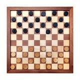 Checkerboard τους ελεγκτές που χωρίζονται κατά διαστήματα με Στοκ Φωτογραφία