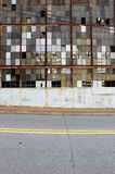 Checkerboard των σπασμένων παραθύρων Στοκ εικόνα με δικαίωμα ελεύθερης χρήσης