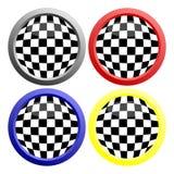 checkerboard кнопки Стоковая Фотография RF