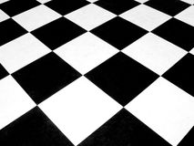 Checkerboard. Black and white checkerboard pattern Royalty Free Stock Photos