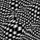 Checkerboard background. Of black and white squares stock illustration