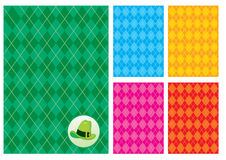 Checkerboard background and a green hat. Five checkerboard background and a green hat Vector Illustration