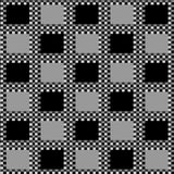 Checkerboard Black Background Stock Image