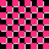 Checkerboard Black And Pink Background Stock Photo