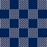 Checkerboard And Brick Blue Stock Image