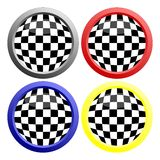 Checkerboard button Royalty Free Stock Photography