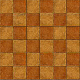 Checkerboard ceramic brown stone tiles seamlessly tileabl Royalty Free Stock Photo