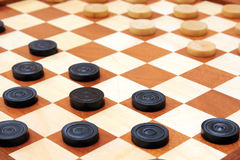 Checkerboard with checkers spaced royalty free stock photos