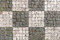 Checkerboard cobblestone street Royalty Free Stock Photo