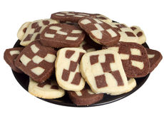Checkerboard cookies Royalty Free Stock Photos