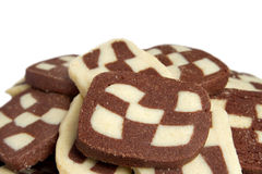 Checkerboard cookies Royalty Free Stock Photo