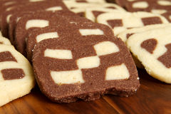 Checkerboard cookies Stock Images