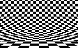 Free Checkerboard Curved Background Empty In Perspective, Vector Illustration. Stock Photography - 141857992