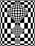 Checkerboard design. Illustration of optical checkerboard design Royalty Free Stock Photography