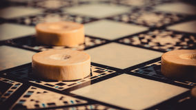 Checkerboard game Royalty Free Stock Images