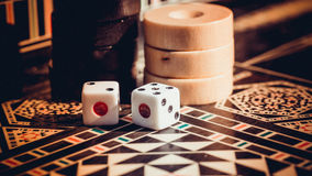 Checkerboard game Royalty Free Stock Photo