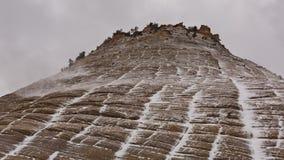 Checkerboard Mesa σε Zion μια χειμερινή ημέρα στοκ εικόνα