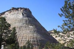 Checkerboard Mesa στο εθνικό πάρκο Zion στοκ εικόνα