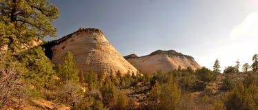 Checkerboard Mesa στο εθνικό πάρκο Zion στοκ εικόνα με δικαίωμα ελεύθερης χρήσης