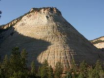 Checkerboard Mesa. In Zion national park royalty free stock images
