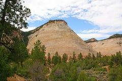 Checkerboard Mesa, Zion Canyon National Park, Utah. Royalty Free Stock Images