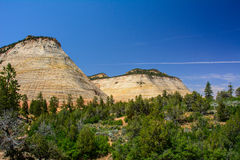 Checkerboard Mesa in Zion National Park, Utah Royalty Free Stock Photography