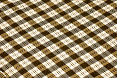 Checkerboard pattern on fabric. Checkerboard pattern on brown fabric Stock Image