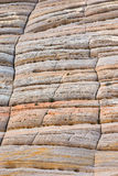 Checkerboard rock formation in Zion National Park Stock Photo