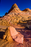 Checkerboard Sandstone Butte Stock Images