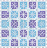 Checkerboard of snowflakes. Pattern. Stock Image