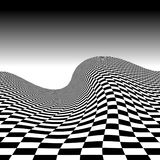 Checkerboard Wave Stock Photography