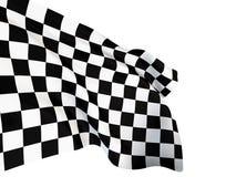 Checkerd goal flag Stock Image